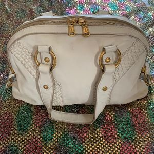 Yves Saint Laurent Ivory satchel Leather Handbag